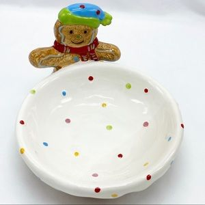 Christmas Gingerbread Man Candy Bowl